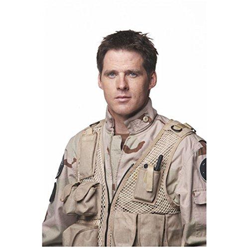 Ben Browder Stargate SG-1 in Camouflage and Tan Mesh Vest White Background 8 x 10 inch photo (Vest Mesh Ben)