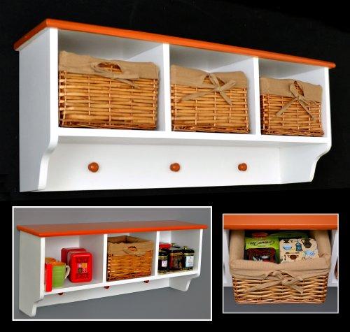 Mueble para pared pasillo perchero cocina ba o estante for Cesta para muebles de bano