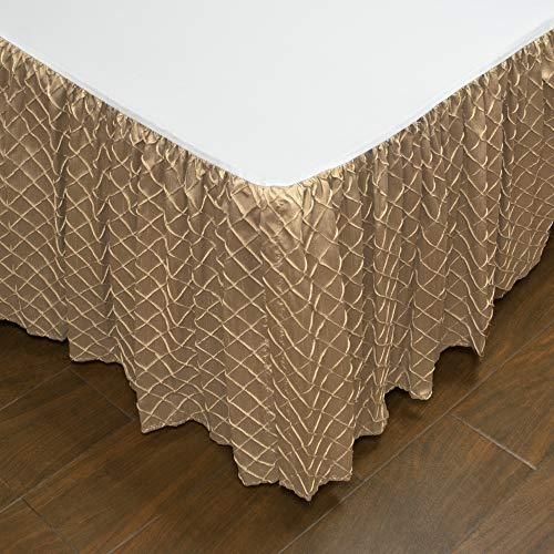 Austin Horn Classics Botticelli Brown Luxury Bed Skirt King (Austin Bedskirt)