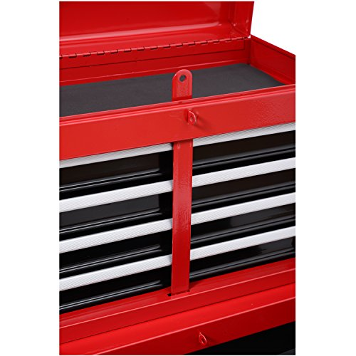HomCom Rolling Tool Chest with and Removable - Red and Black