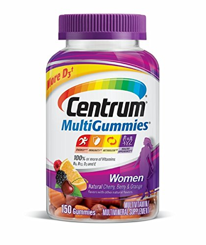 Centrum MultiGummies Women's Multivitamin Gummies - Cherry, Berry & Orange - 150ct
