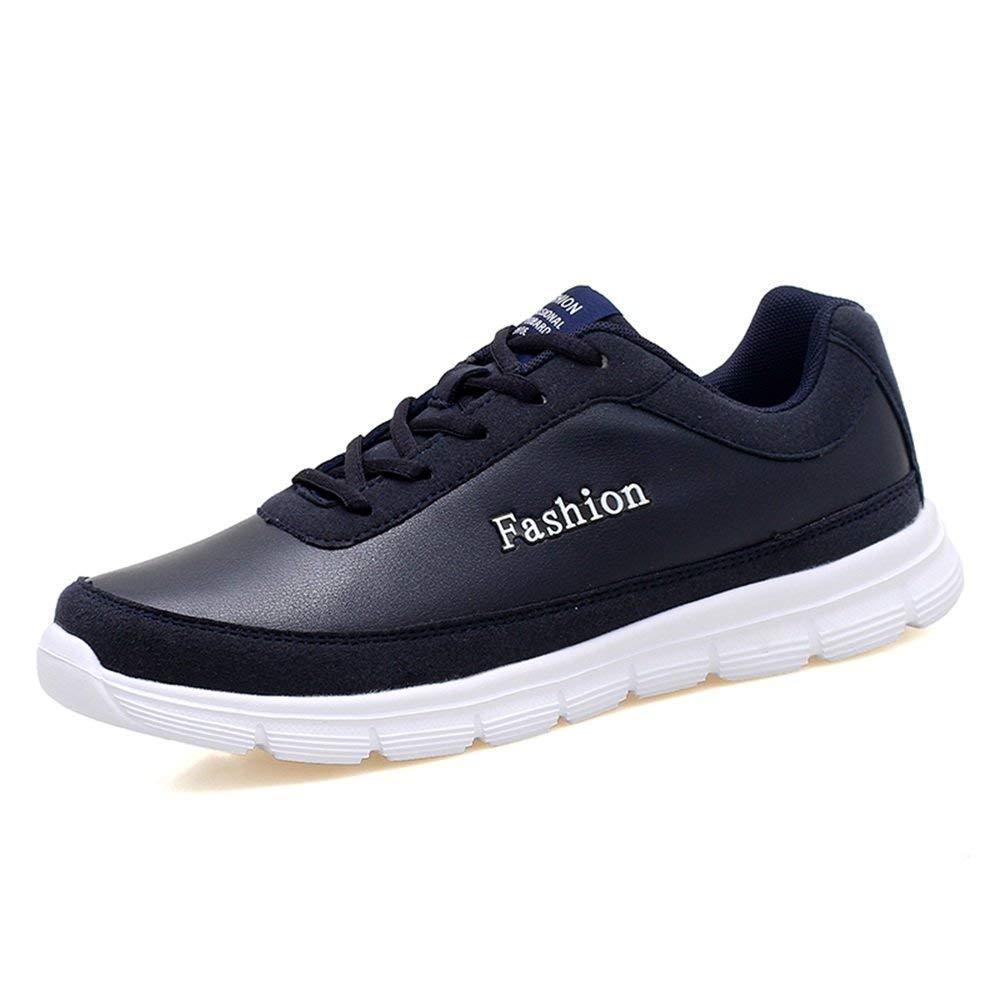 2018 Athletische Turnschuhe der Männer zufälliger Einfarbiger Wasserdichter weicher Boden Plus-Größe gehende und laufende Schuhe (Farbe   Blau, Größe   43 EU) ( Farbe   Blau , Größe   44 EU )