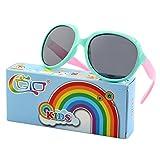 CGID Soft Rubber Kids Girls Trendy stylish Polarized Sunglasses for Children,K89