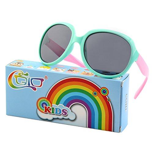 GQUEEN Cute Rubber Flexible Kids Polarized Sunglasses for Boys Girls ET60