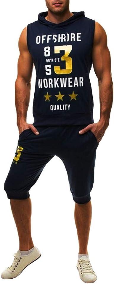 Trendy O-Neck Men Tank Tops Mens Summer Recreational Printed Vest,Dark Blue,XL