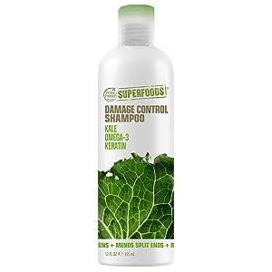 Petal Fresh SuperFoods Damage Control Shampoo (Kale, Omega 3 & Keratin) | SuperFoods Beauty