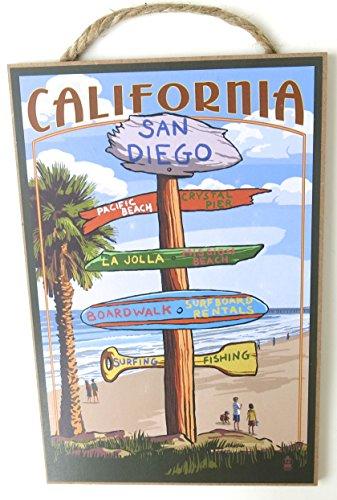 San Diego, California, Souvenir, Wall Decor, Wood Wall Plaque, Pacific Beach