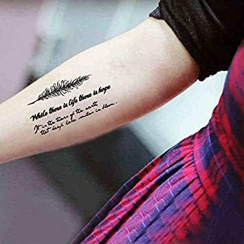 Zokey impermeable tatuaje temporal inglés famoso inglés poema ...