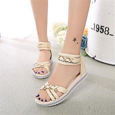 RTRY La Mujer Sneakers Confort Lienzo Pu Confort Informal De Resorte Plano Blanco US5 / EU35 / UK3 / CN34