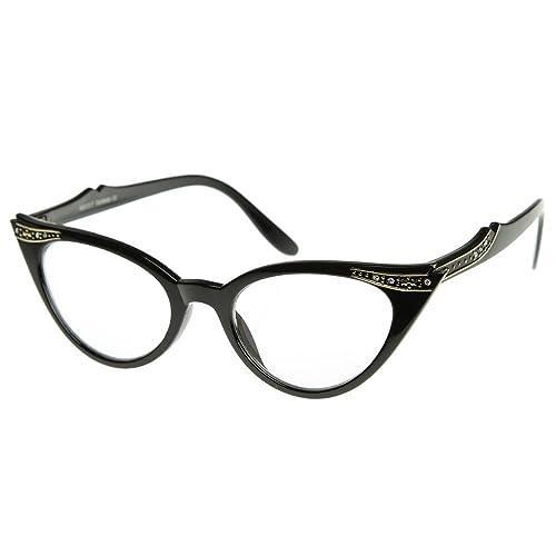 Gafas neutral BESO® - mod. PIN-UP de los CRISTALES de Ojo de Gato marco óptica de las MUJERES de la ...