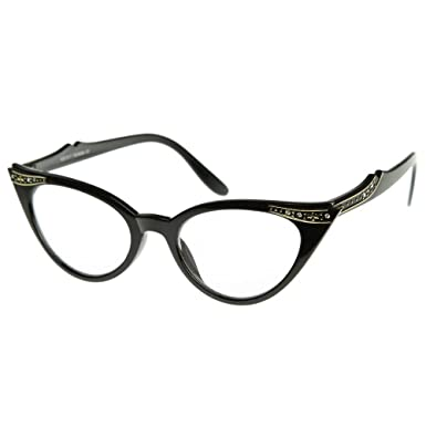 ea56008e849e Glasses neutral KISS - CAT EYE mod. PIN-UP CRYSTALS - optical frame ...