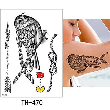 HXMAN 5 Hoja Tatuaje Temporal Pegatina Caliente Falso Tatoo ...