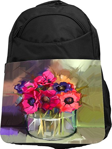 Rikki Knight Bouquet of Flowers in Vase Oil Painting Prem...