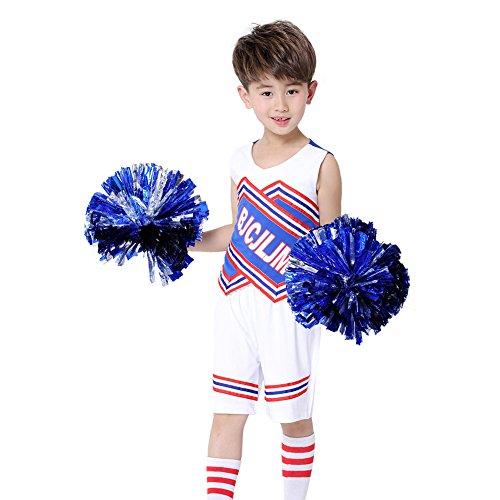 DREAMOWL Girls Boys Cheerleader Uniform Outfit Costume High