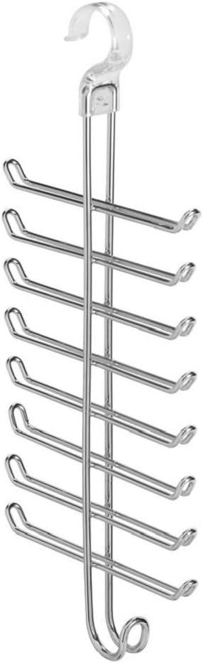 Chrome InterDesign Classico Over the Door Closet Organizer Rack for Ties Belts