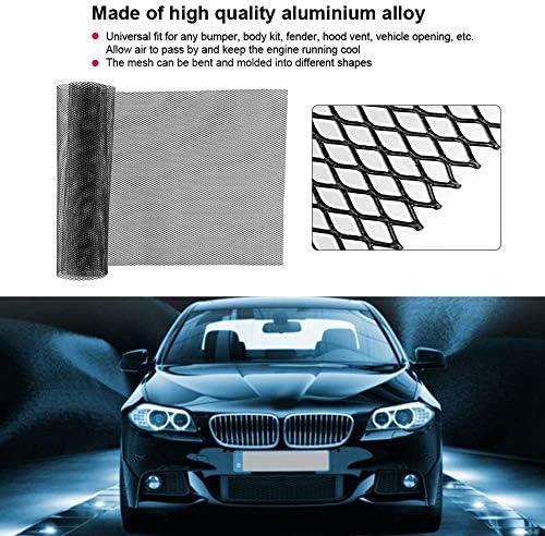 Rockyin 3x6mm aleación de aluminio de la parrilla del coche de malla rejilla hoja rombal cuerpo de parachoques parrilla universal