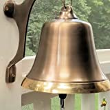 Engraved Two-Toned Antiqued Brass Wall Bell