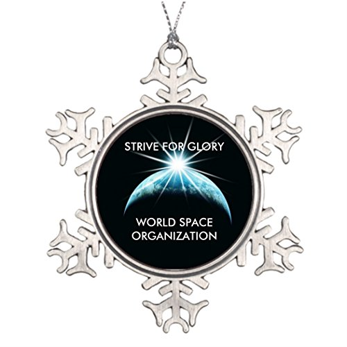 Xmas Trees Decorated 320s WORLD SPACE ORGANIZATION STRIVE FOR GLORY Family Personalized Snowflake Ornaments World by Call ME BAby