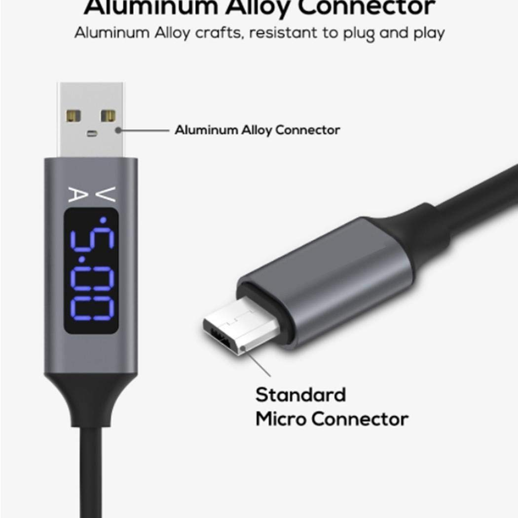 Ladiy Intelligent Display Fast Charging Data Cable Line for Android Type-C Cables