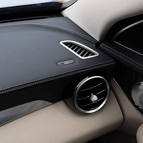 TongSheng Aluminum Alloy Dashboard Air Conditioning Outlet Vent Frame Trim 2pcs for Mercedes Benz C-Class w205 c200 2015 2016