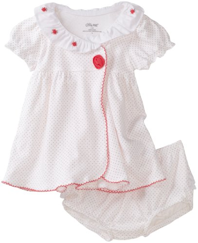 Little Me Baby-Girls Newborn Dainty Rose Dress And Panty Set