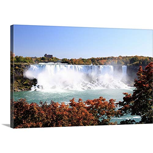 GREATBIGCANVAS Gallery-Wrapped Canvas Entitled American Falls at Niagara Falls. View South to Buffalo and The USA from Canada. by 60