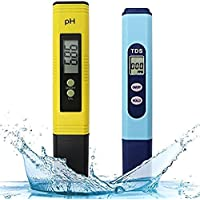 SODIAL Water Quality Test Meter,Ph Meter Tds Meter 2 in 1 Kit with 0-14.00Ph and 0-9990 Ppm Measure Range for Hydroponics,Aquariums,Drinking Water,Ro System,Pool and Fishpond