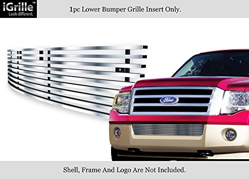 (APS Compatible with 2007-2014 Ford Expedition Bumper Stainless Steel Billet Grille Grill Insert F65335C)
