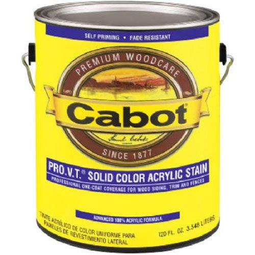 CabotStain 156243 Cabot Siding Stain Acrylic Pine White Base Solid, 1 Quart