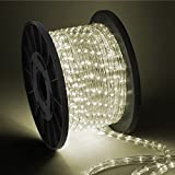 ARKSEN 100' LED Rope Light, Decorative Indoor/outdoor(Warm White)