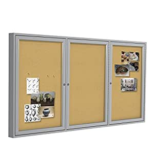 Amazon Com Ghent 4 Quot X8 Quot 3 Door Indoor Enclosed Bulletin