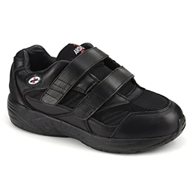 Apis Answer2 553-1 Men's Therapeutic Extra Depth Shoe: Black 6.5 Medium (D