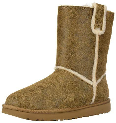 UGG Women's W Classic Short Spill Seam Fashion Boot, Chestnut, 9 M US
