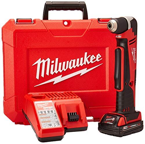 Milwaukee Electric Tool 2615-21CT Right Angle Cordless Drill Kit, 18 V, Li-Ion, 3/8' Single Sleeve Chuck