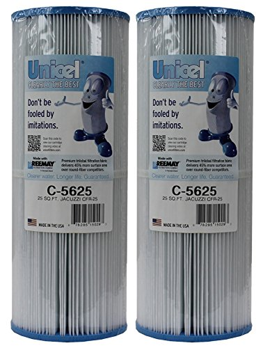 2) New Unicel C-5625 Spa Replacement Cartridge Filters 25 Sq Ft Jacuzzi CFR-25