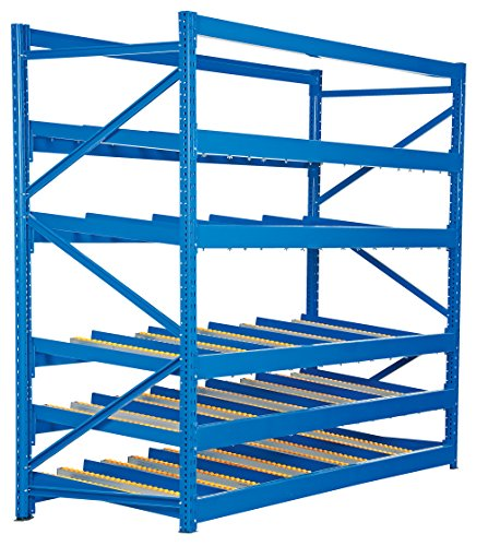 Vestil FLOW-4-5 Carton Flow Rack with Gravity Fed Rollers, 5 Flow Levels, 84