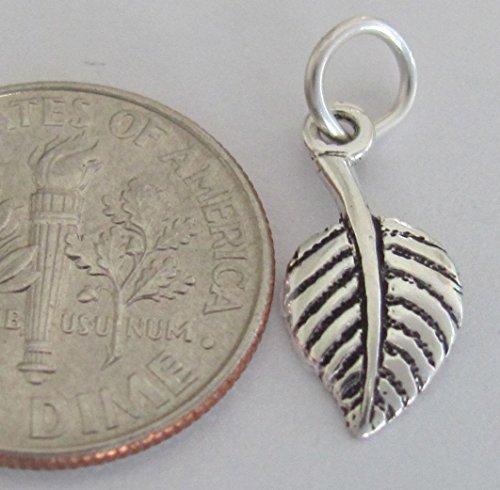 OutletBestSelling Charm Pendant Bracelet Small Sterling Silver Aspen Leaf Miniature (Aspen Leaf Beads)