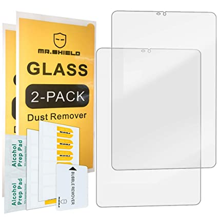 [2-Pack]-Mr Shield for Samsung Galaxy Tab S4 [Tempered Glass] Screen  Protector [0 3mm Ultra Thin 9H Hardness 2 5D Round Edge] with Lifetime