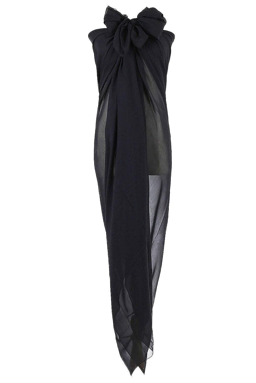 PB-SOAR XXL Damen Einfarbig Sarong Pareo Strandtuch Wickeltuch Bikini Cover up Wickelrock Multifunktions, Weich und Leicht