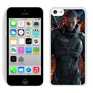 Case For iPhone 5C,Mass Effect 3 Commander Shepard White iPhone 5C Case Cover