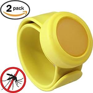 mozguard repelente de insectos Snap Pulseras (2unidades) no DEET o productos químicos, All Natural, citronela, Mosquito pulsera de protección–No Baby Bug Sprays o redes de cuna