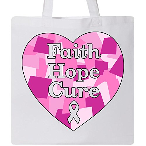 Inktastic - Faith, Hope, Cure- breast cancer awareness Tote Bag White 31577 by inktastic