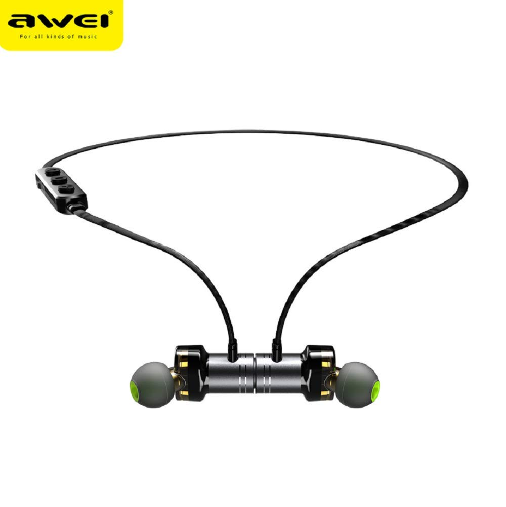Amazon.com: WSJ AWEI X670BL Wireless Sports Bluetooth Headset, Metal Magnetic, Stereo Sound Quality, no Noise, Light Neck-Mounted Waterproof Headset: ...