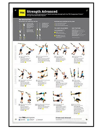 TRX Training All Body Advanced Strength Poster, Improve Body Strength by TRX