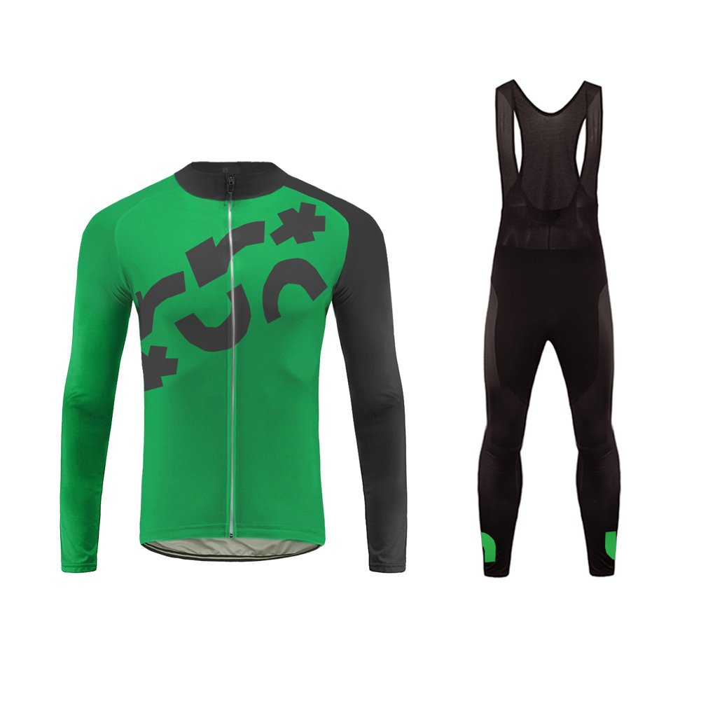 Uglyfrog Herren Lange Ärmel Fahrrad Radfahren Jersey Quick Dry Außen Jersey + Lange Hosen Anzüge Atmungsaktiv Herbst Style Rückentaschen