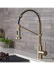 Kraus KPF-1610BG Bolden 18-Inch Commercial Kitchen Faucet with Dual Function Pull-Down Sprayhead in All-Brite Finish