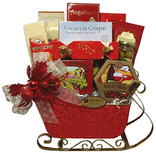 Delight Expressions Tis the Season Christmas Gourmet Food Gift Basket Sleigh - A Holiday Gift Basket Idea ()