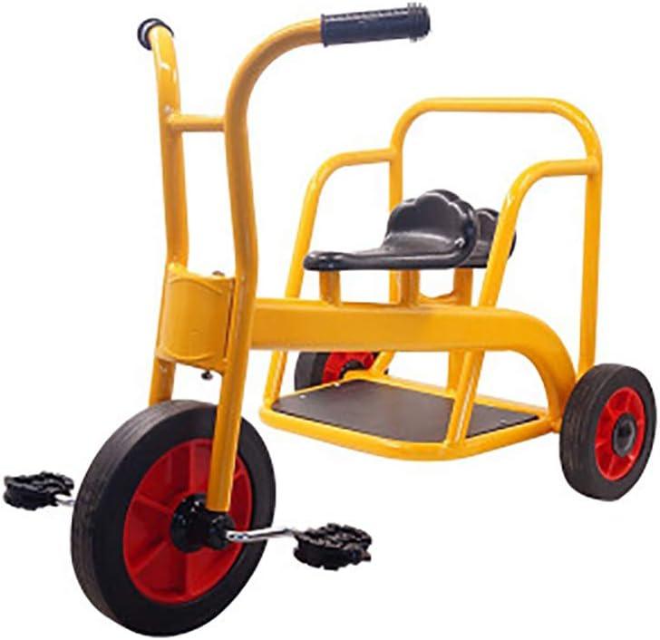 SHARESUN My Rider Tandem Tricycle - Triciclo para niños, diseño Retro- Triciclo con Ruedas de Goma- Chrome Front Fender-Deck- Step-in Back, para niños Mayores de 3 años