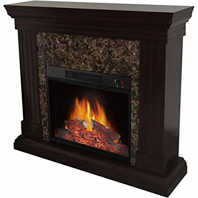 "Home Electric Fireplace, w/44"" Mantle, Classic designe, Adjustable control"