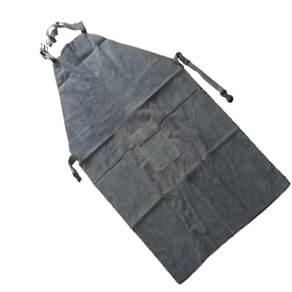 Sharplace Abbigliamento Da Lavoro Grembiule Saldatura Saldatore Termica Artificiale Pelle Bovina Blu Scuro 90x60cm